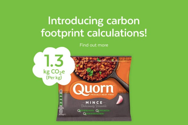 Quorn new Carbon Footprint labelling