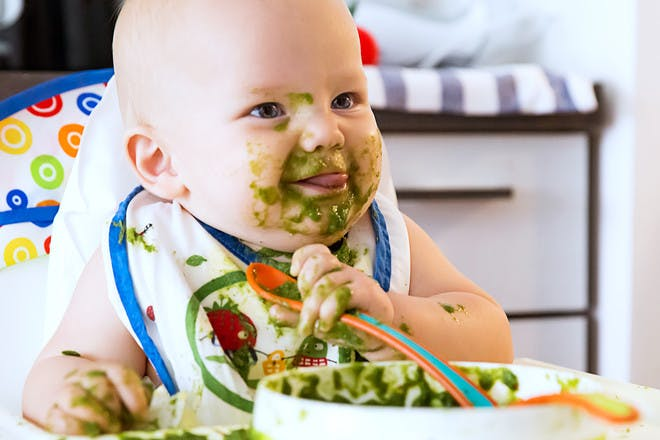 13. Let your baby explore his food