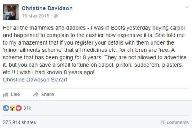 christine davidson boots facebook post
