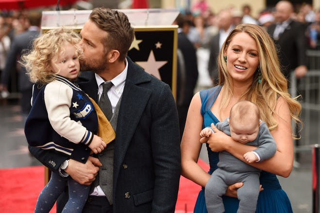 Blake and Ryan Reynolds on the Hollywood Walk of Fame