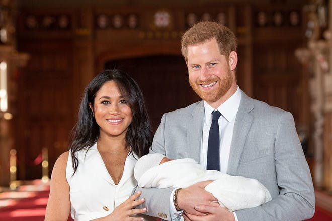 Harry and Meghan with Baby Sussex