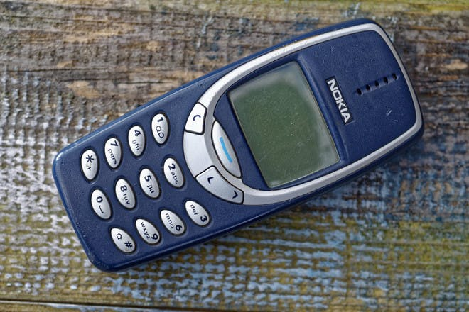 4. Texting on our Nokia 3310s