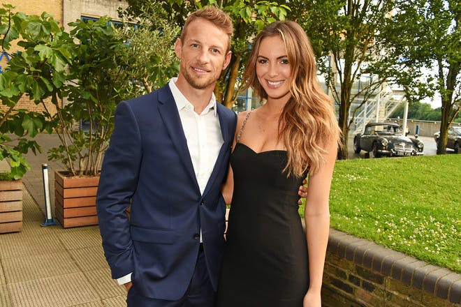 43. Jenson Button and Brittny Ward