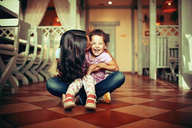 Smiling child with mum