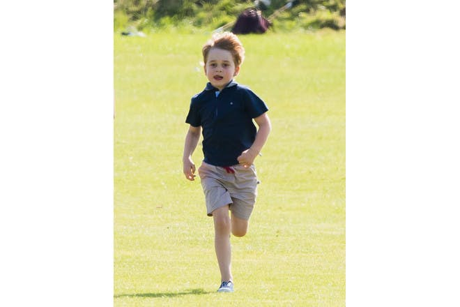 Prince George running at the polo 2018