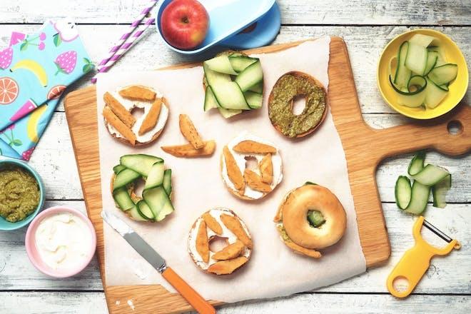 Quorn vegan pesto bagel