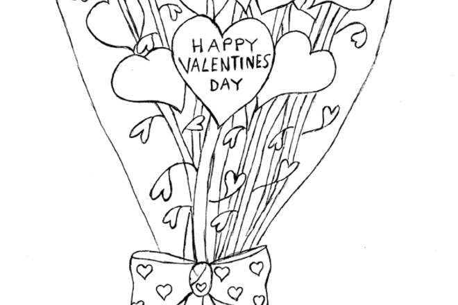 Valentine's roses card
