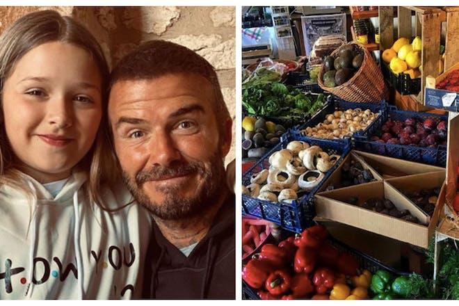 David Beckham fruit and veg