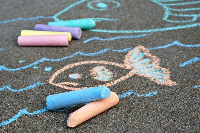 26.  Chalk drawings