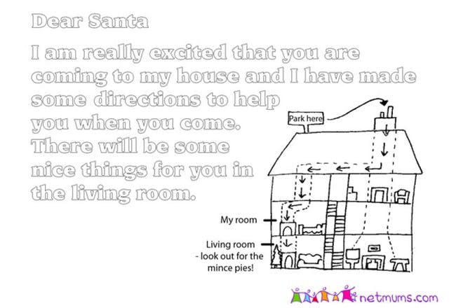 letter to santa template with directions