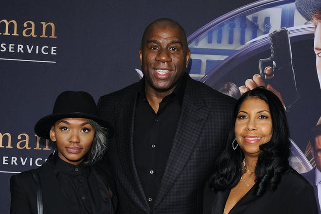 Magic Johnson family