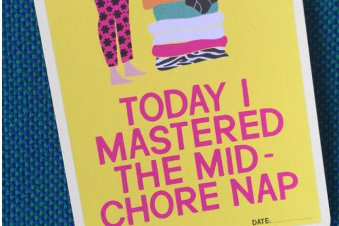 milestone chore card