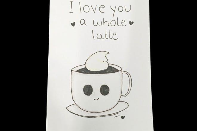 coffee Valentine's card