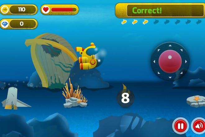 Submarine math maths game