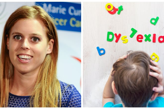 Princess Beatrice / child with dyslexia