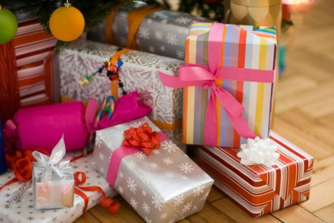 gifts in different wrapping paper