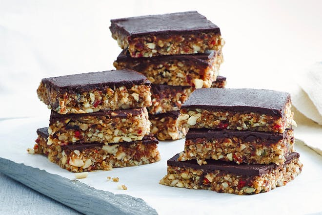 Choc nut energy bars