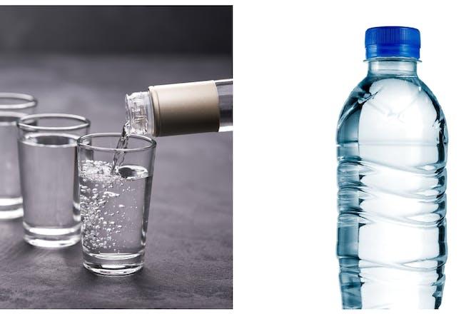 Vodka / bottle of water