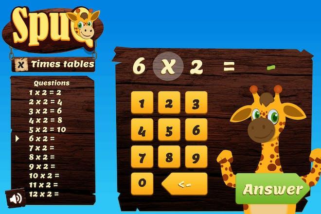 SpuQ times tables maths game