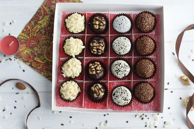 20. Homemade boxed truffles