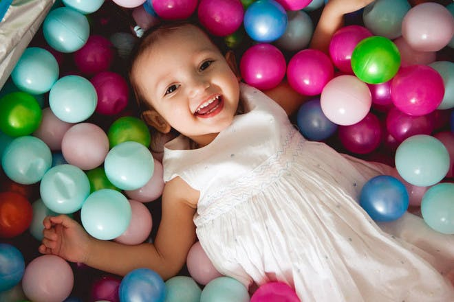 An Easter ball pit