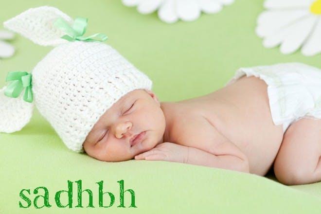 sleeping baby in hat