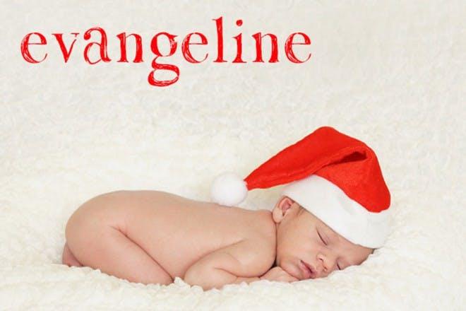 baby sleeping in christmas hat