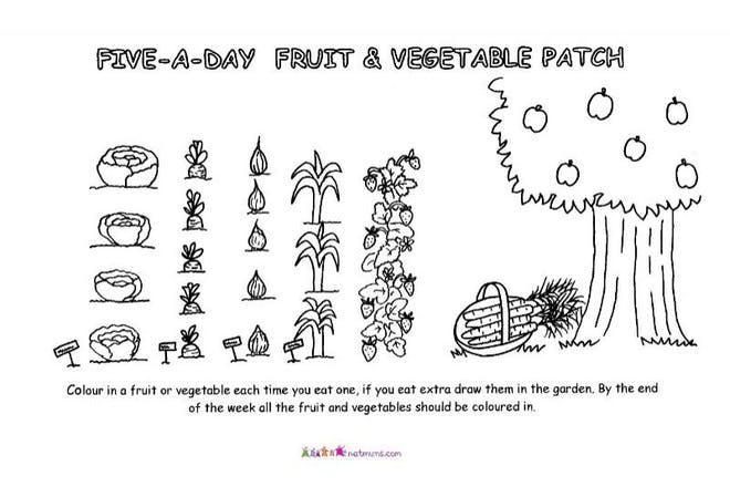 5 a day food chart