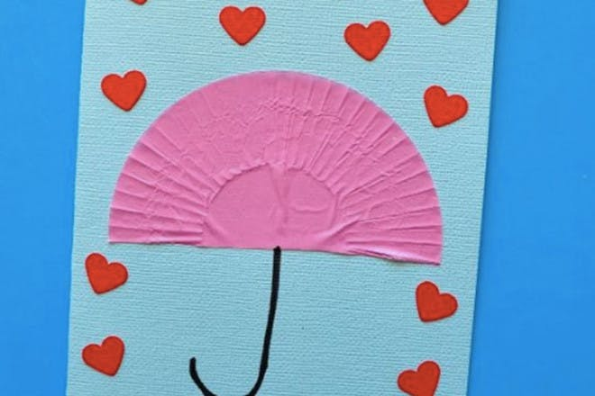 Mother's Day card with umbrella