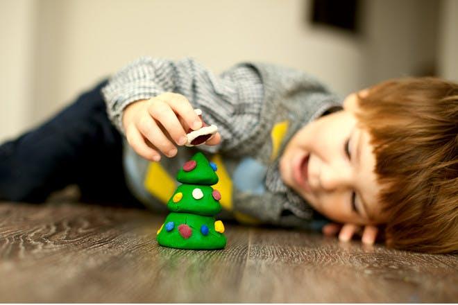 6. Plasticine Christmas trees