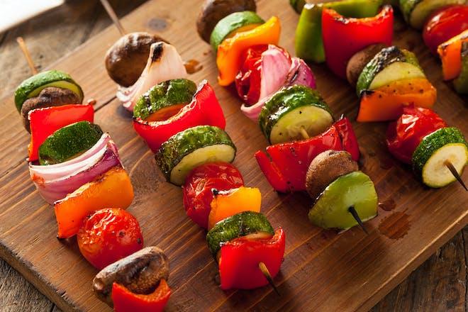 BBQ veggie kebabs