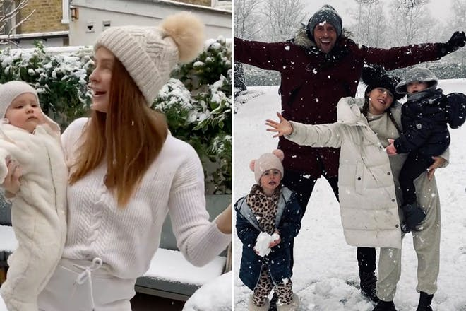 The best snaps of celeb families in the snow this weekend