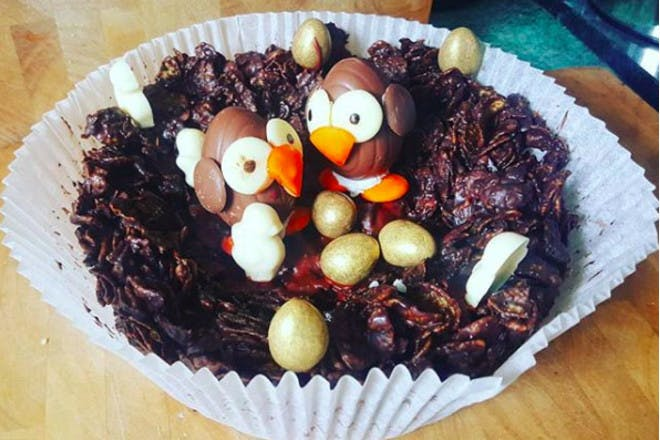 7. Chocolate chick and egg cakes