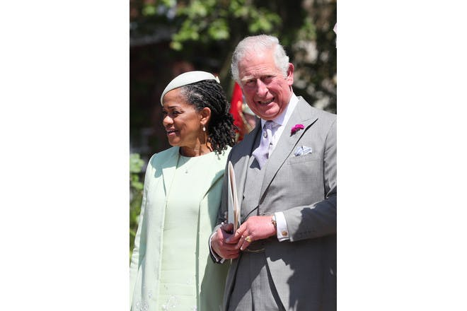 Doria Ragland and Prince Charles laughing