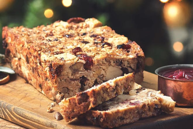 Quorn Pieces and Chestnut Loaf with Cranberries