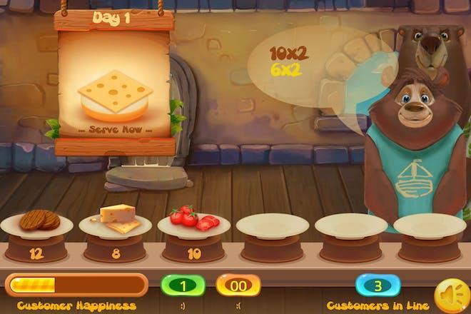 Happy burger maths game