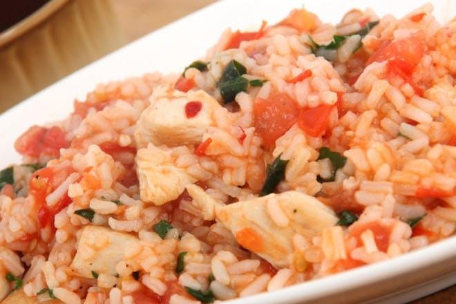 Toddler tomato chicken rice