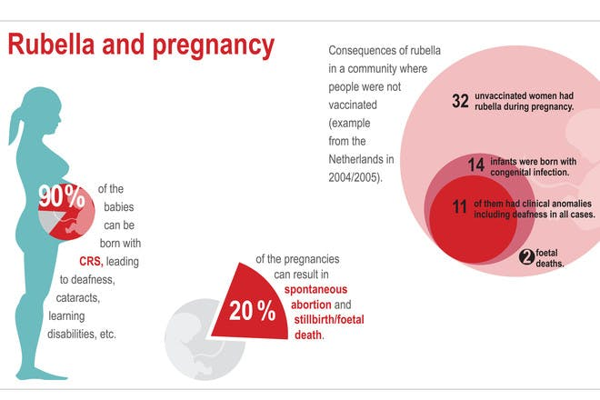 Infographic to show how to protect against rubella in pregnancy