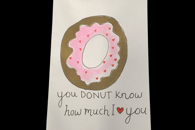 Mother's Day card donut