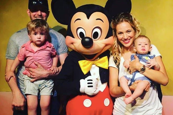 Miachel Buble with family at Disney