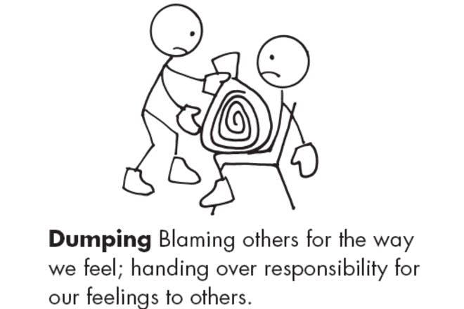 dumping cartoon