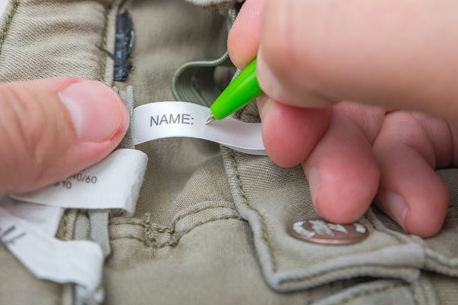 Name label in clothes