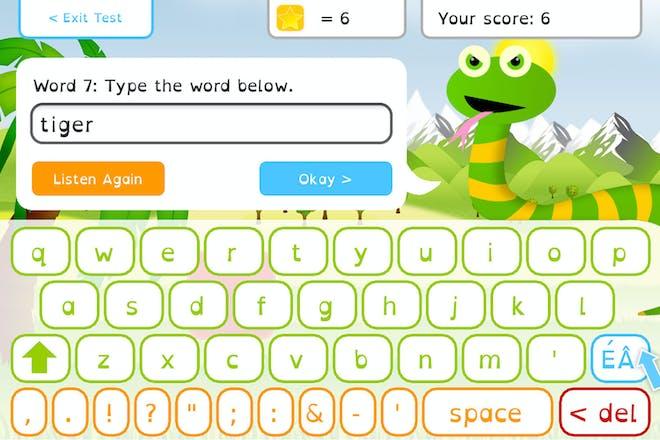 Squeebles Spelling Test screenshot