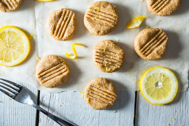 Cashew and lemon no-bake cookies