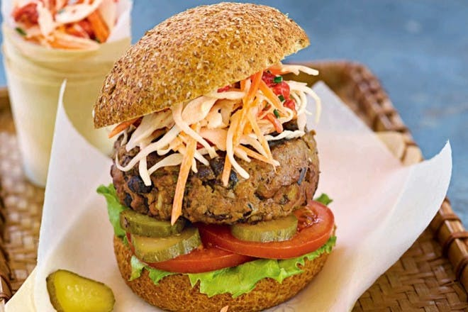 4. Beef and black bean burgers