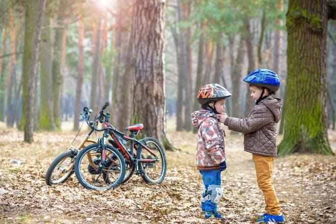 children with bikes