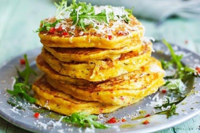 18. Leftover squash pancakes