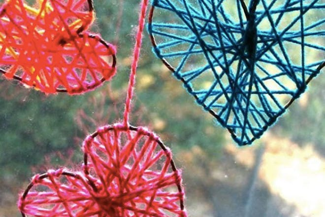 10. Heart hanging decorations