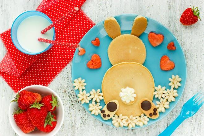 Cute bunny bottom pancakes