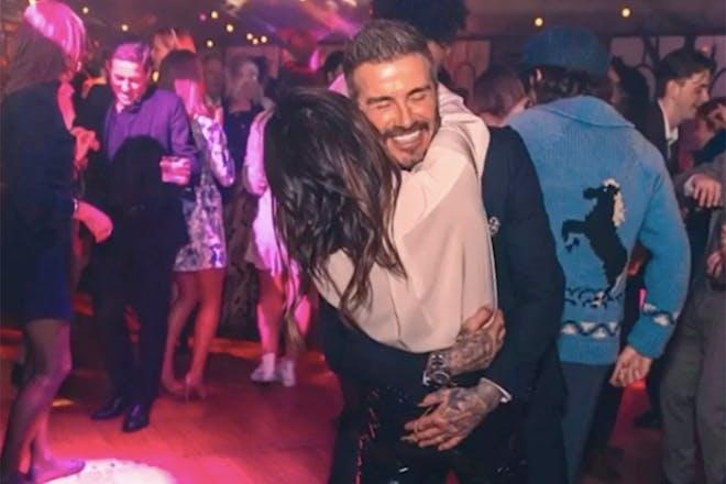 David and Victoria Beckham dancing